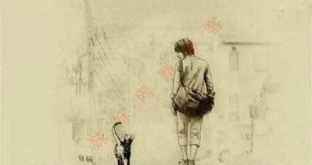 孤独的人和猫